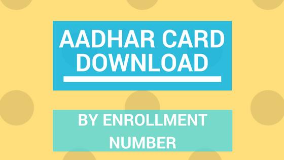 aadhar card download by aadhar no