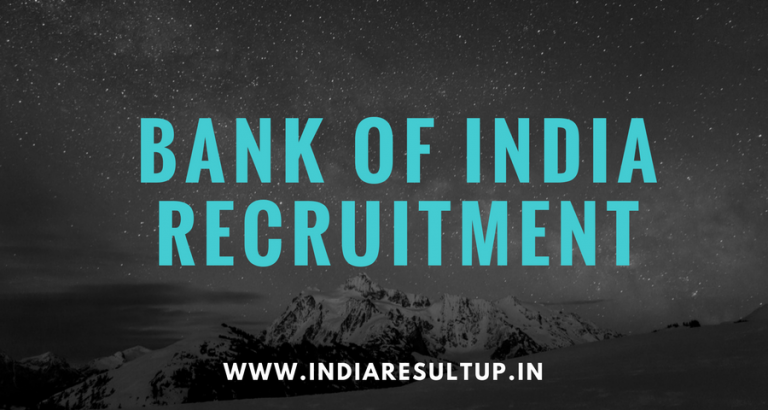 Bank of India Recruitment