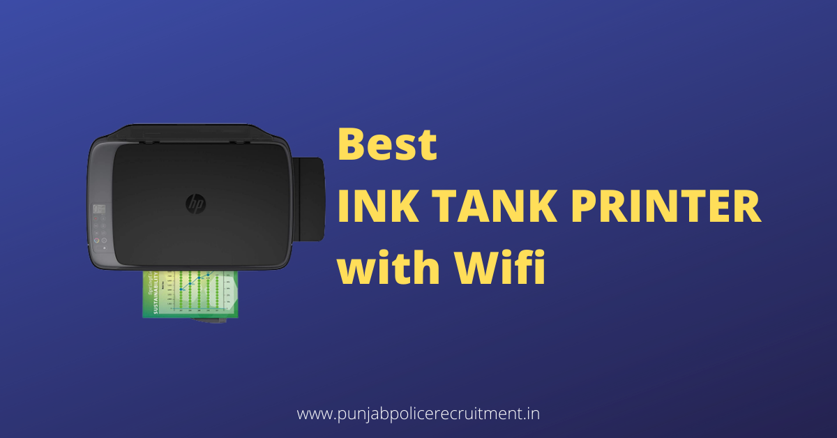Best Ink Tank Printer with Wifi